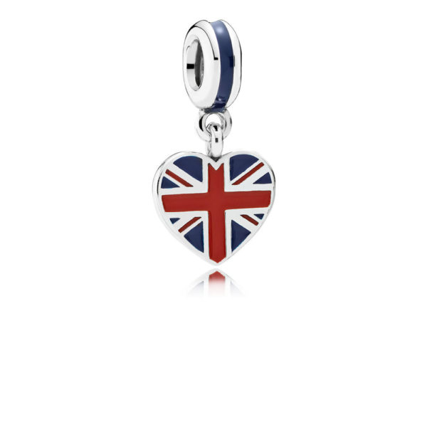 791512enmx pandora Great Britain Heart Flag Pendant Charm