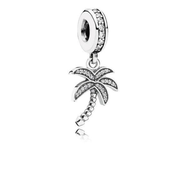 791540cz pandora Sparkling Palm Tree Pendant Charm