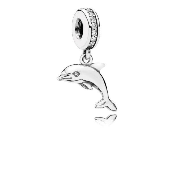 791541cz pandora Playful Dolphin Pendant Charm