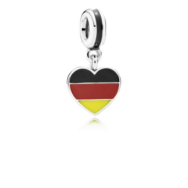 791545enmx pandora Germany Heart Flag Pendant Charm