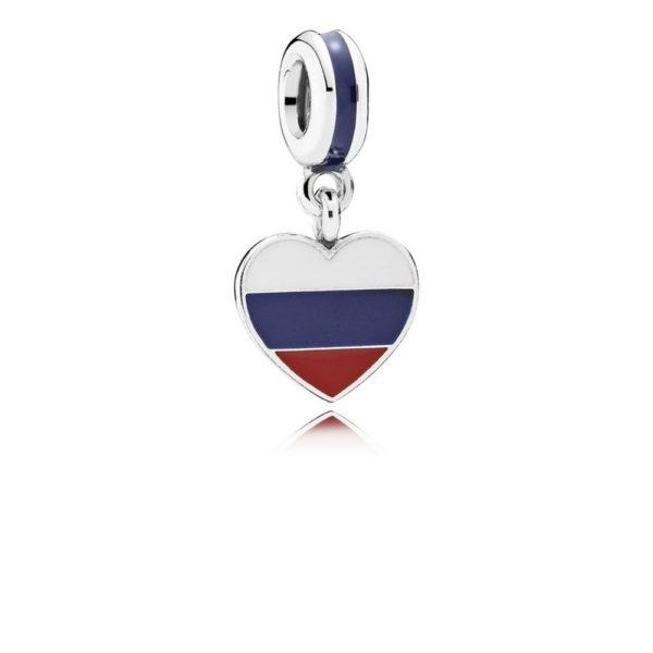 791549enmx Pandora Russia Heart Flag Pendant Charm