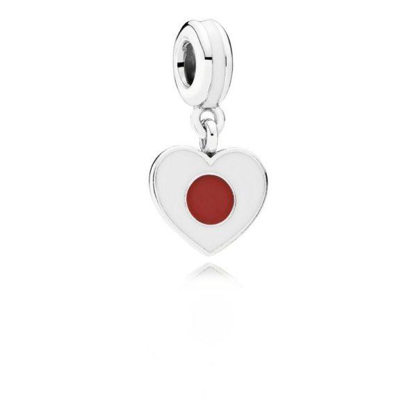 791553enmx pandora Japan Heart Flag Pendant Charm