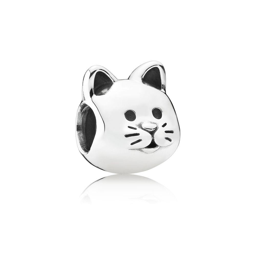 791706 pandora curious cat charm