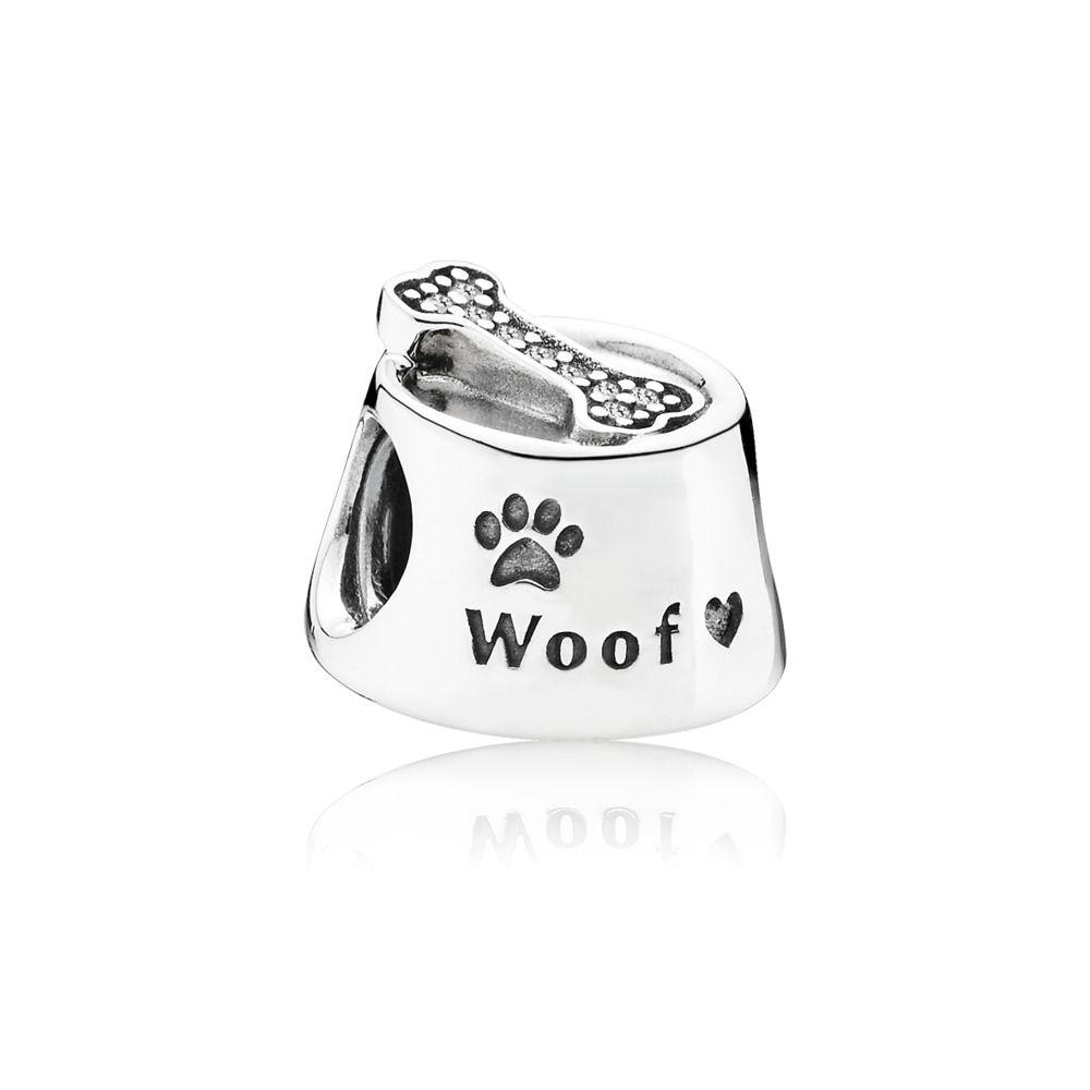 791708cz pandora woof dog bowl charm