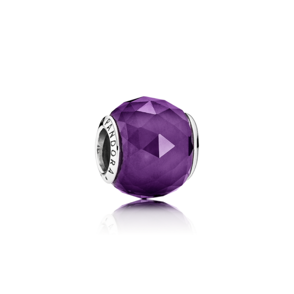 791722nrp Pandora Royal Purple Crystal Geometric Facets