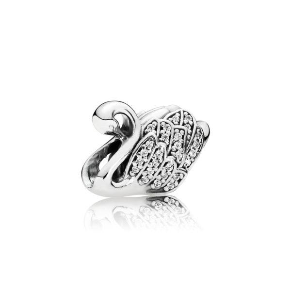 791732CZ Pandora Majestic Swan Charm