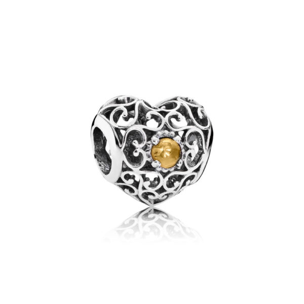 791784ci Pandora November Citrine Signature Birthstone Heart Charm