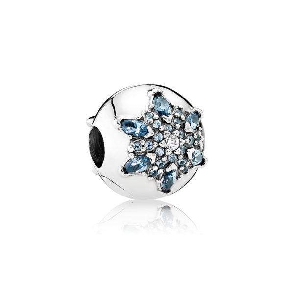 791997nmb pandora crystallised snowflake clip