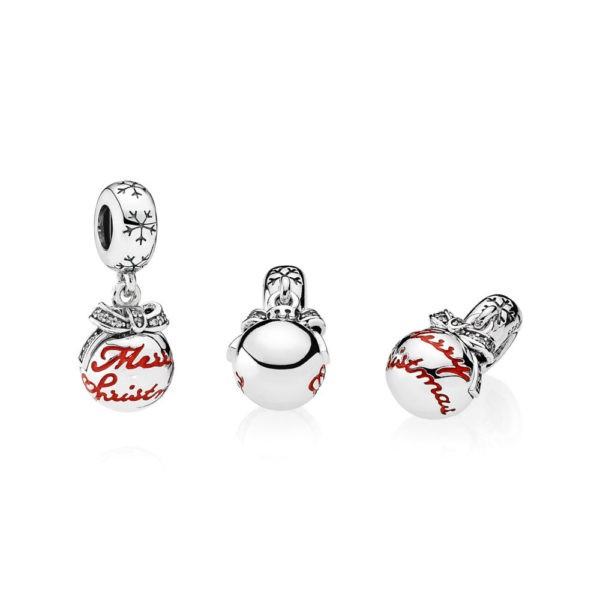 792008cz merry christmas bauble pendant charm