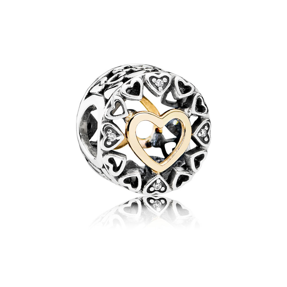 792009CZ circle of love charm