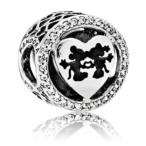 791957CZ pandora Disney, Mickey & Minnie Love Charm