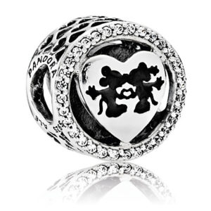 Mickey and Minnie Mouse Sweetheart Charm by PANDORA
