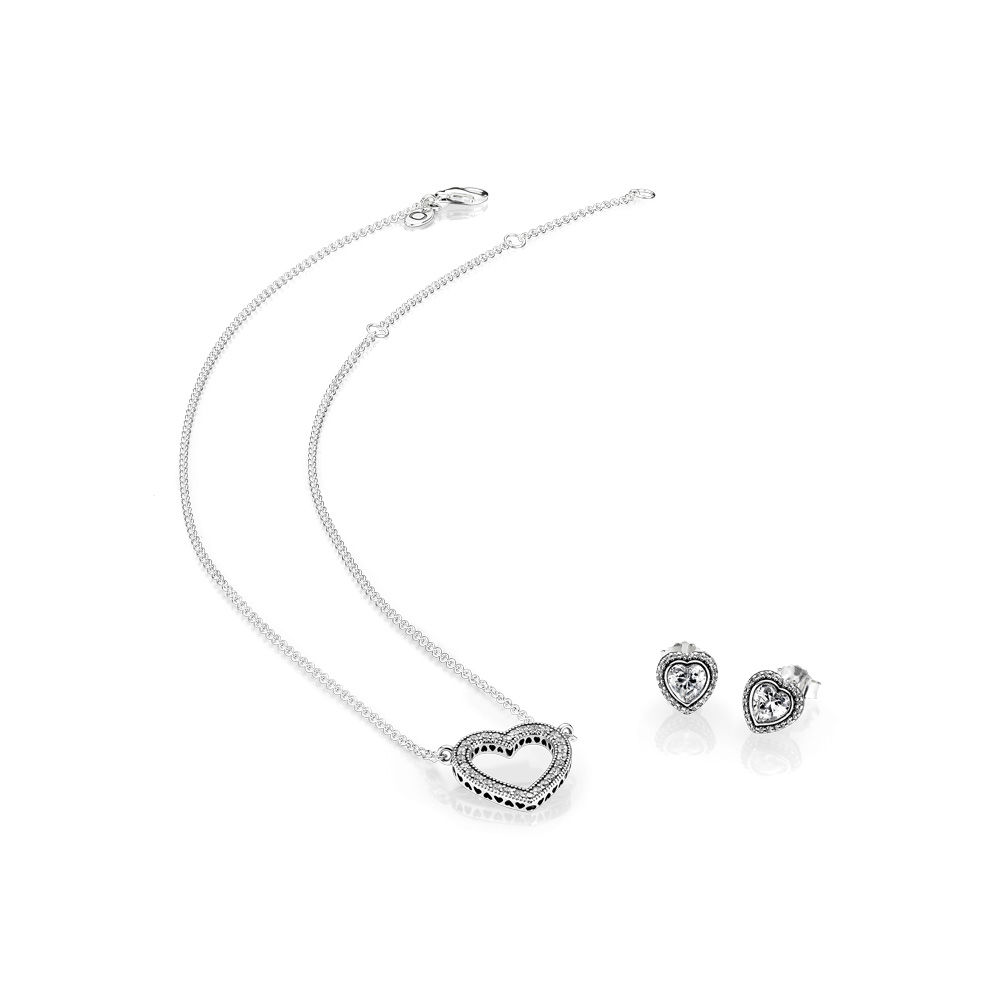 e265185df ... clearance loving hearts necklace earrings gift set the art of pandora  more than just a pandora ...