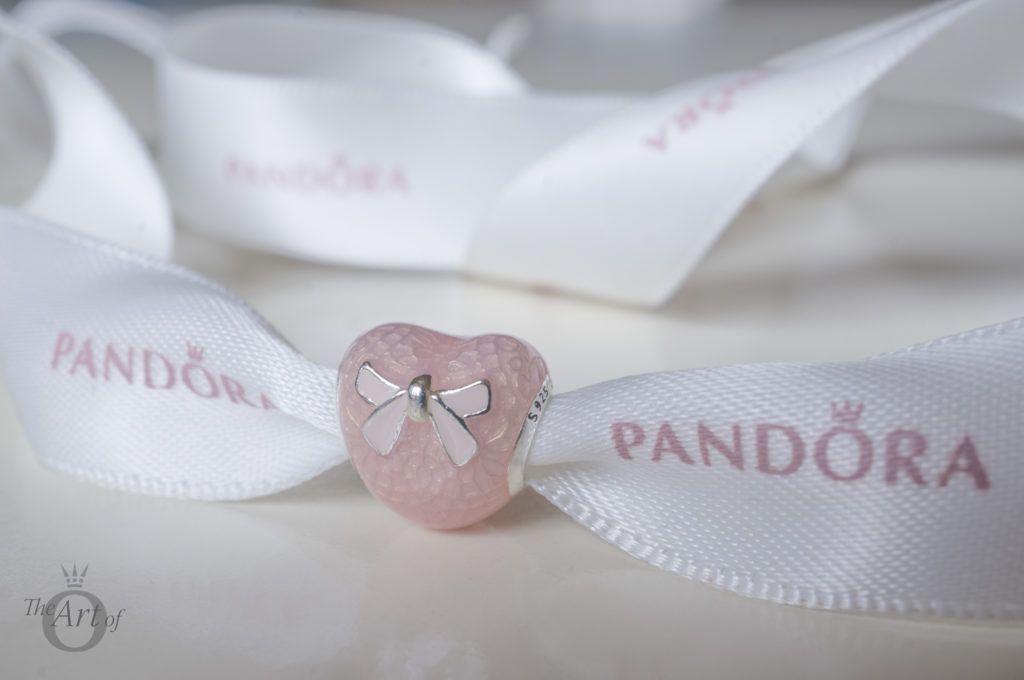 Review Pandora Pink Bow Lace Amp Heart Charm The Art Of