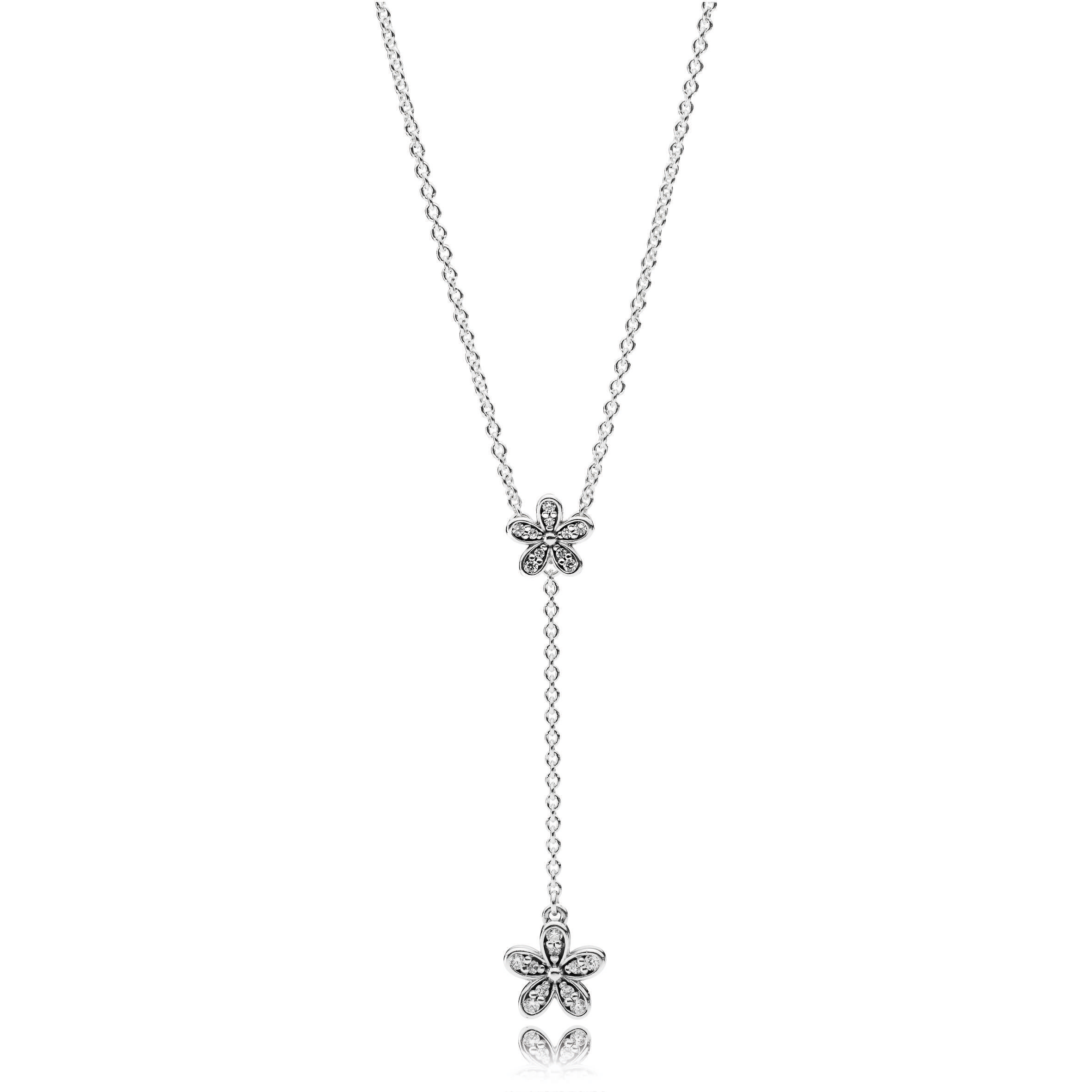 p necklace stainless products daisy gold steel necklaces collections