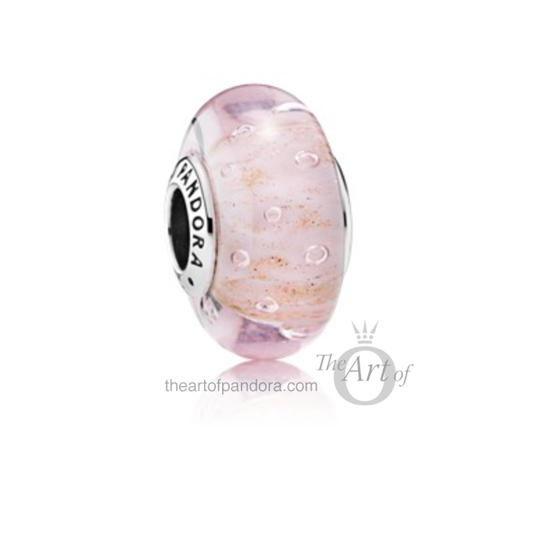 791670-Pink-Glitter-Murano-mr White Orchid Pendant Charm, Pink Glitter Murano and Mint Glitter Murano. pandora summer 2017