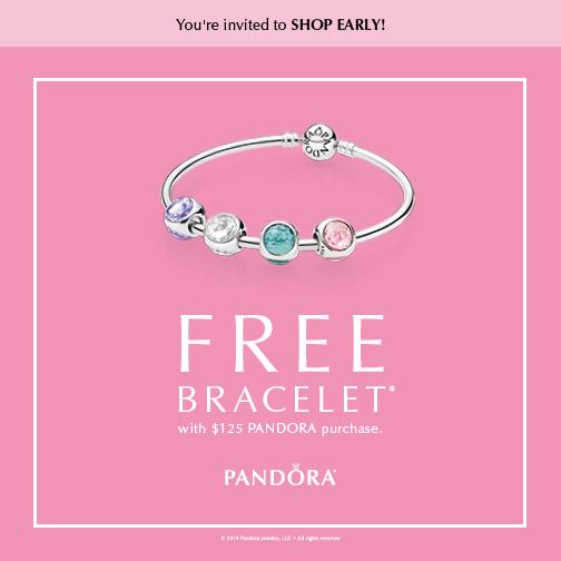 Free Pandora Bracelet Promotion The