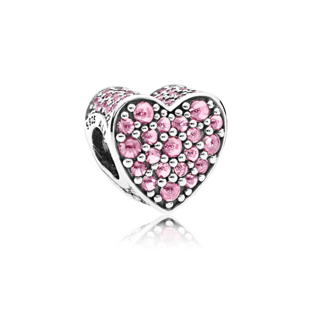 PINK DAZZLING HEART CHARM