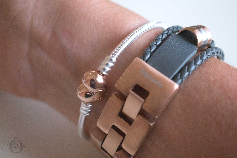 c8ea09f68bfd FitJewels Aurel Bracelet - Grey   Rose Gold - The Art of Pandora ...