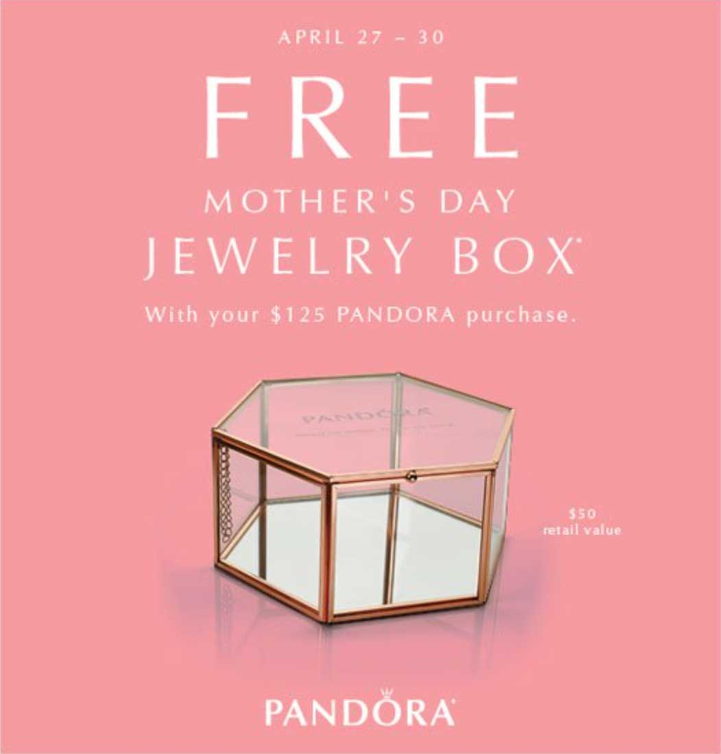 FREE Mothers Day Jewellery Box The Art of Pandora More than