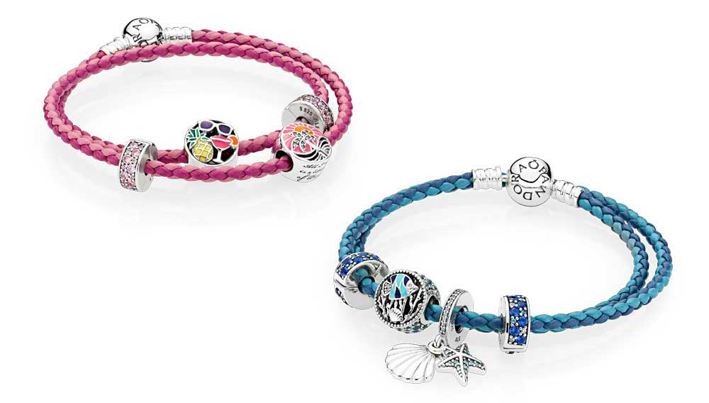 pandora leather bracelets for women