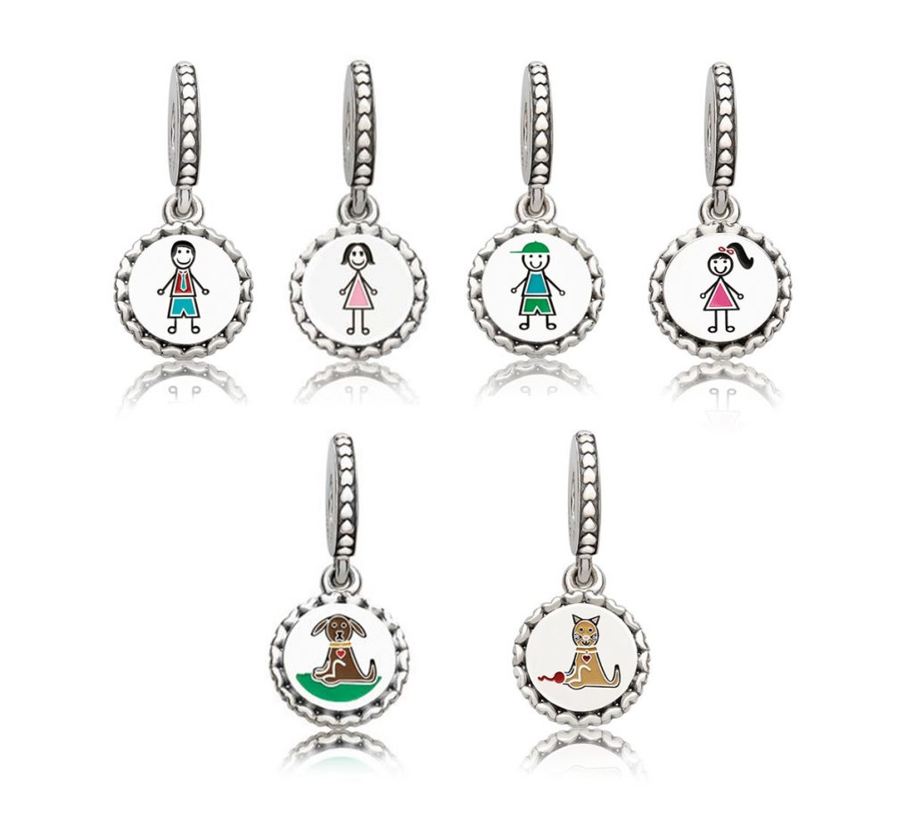 pandora family day stick figure charms dangles autumn 2017 2018 winter spring summer valenties