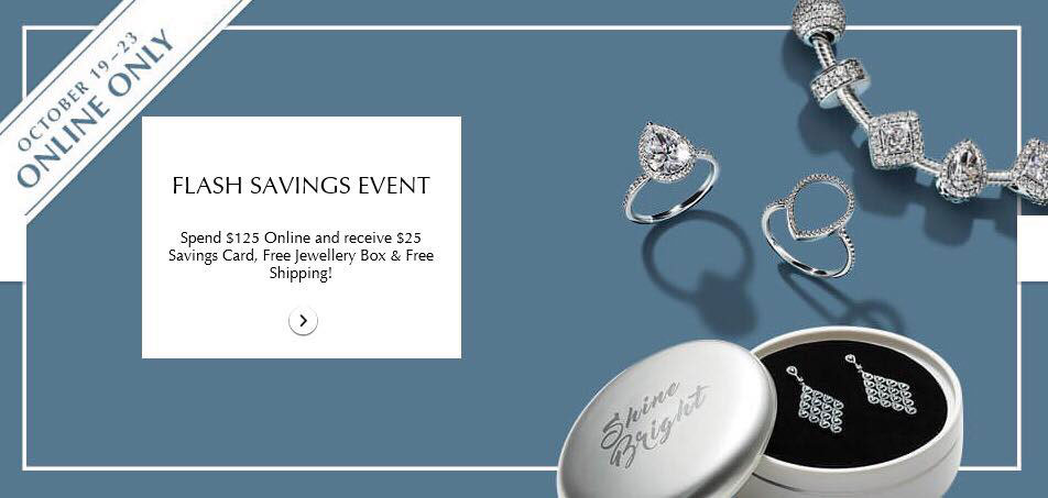 pandora canada free jewellery box sale savings