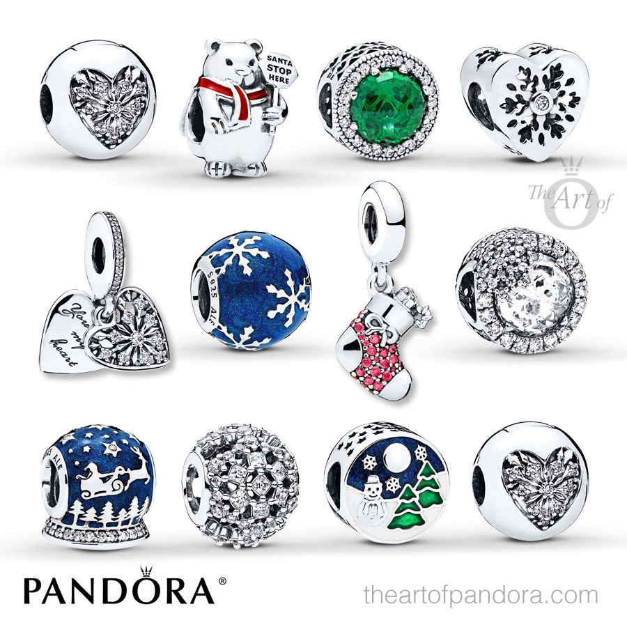 the pandora jareds exclusive gift set 802333803 features all of the special holiday charms and clips from the pandora winter 2017 collection