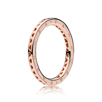 187133 PANDORA Rose Signature Hearts of PANDORA Ring