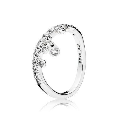 197108CZ Chandelier Droplets Ring