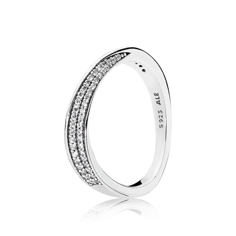 197136CZ Elegant Waves Ring