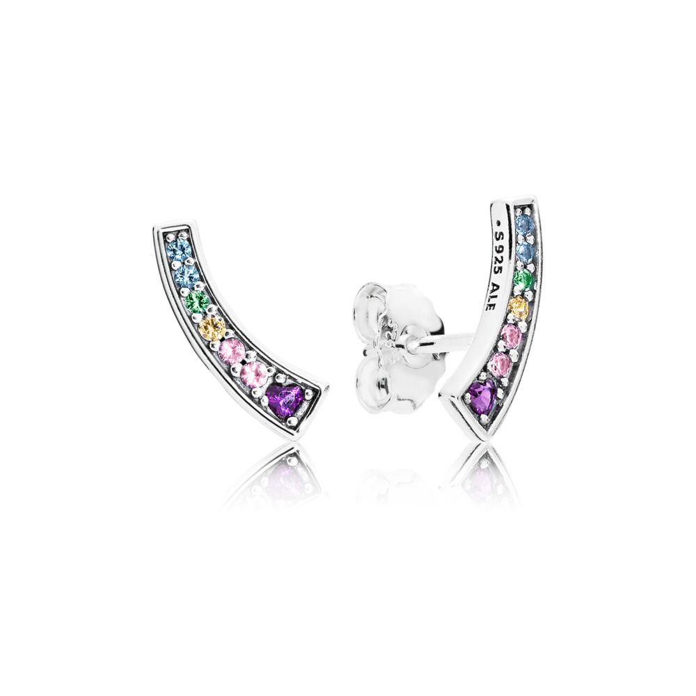 Rainbow Arcs of Love Stud Earrings 297077NRPMX