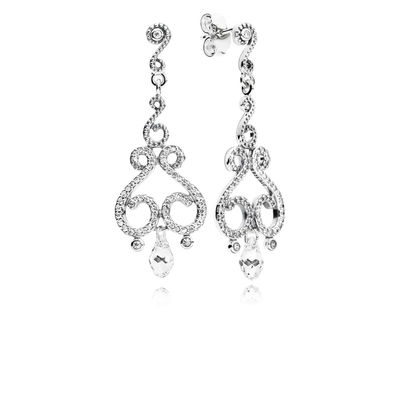 297088CZ Chandelier Droplets Hanging Earring Studs