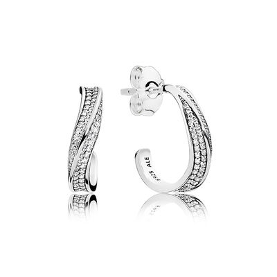 297097CZ Elegant Waves Earring Studs