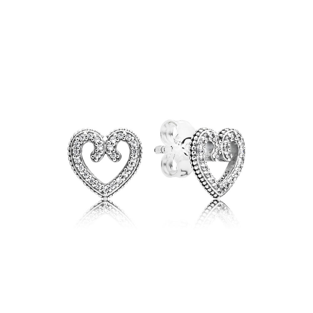 Heart Swirls Earring Studs 297099CZ