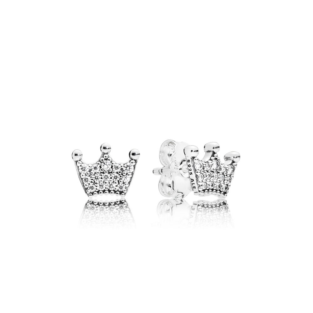 297127CZ Enchanted Crown Earring Studs