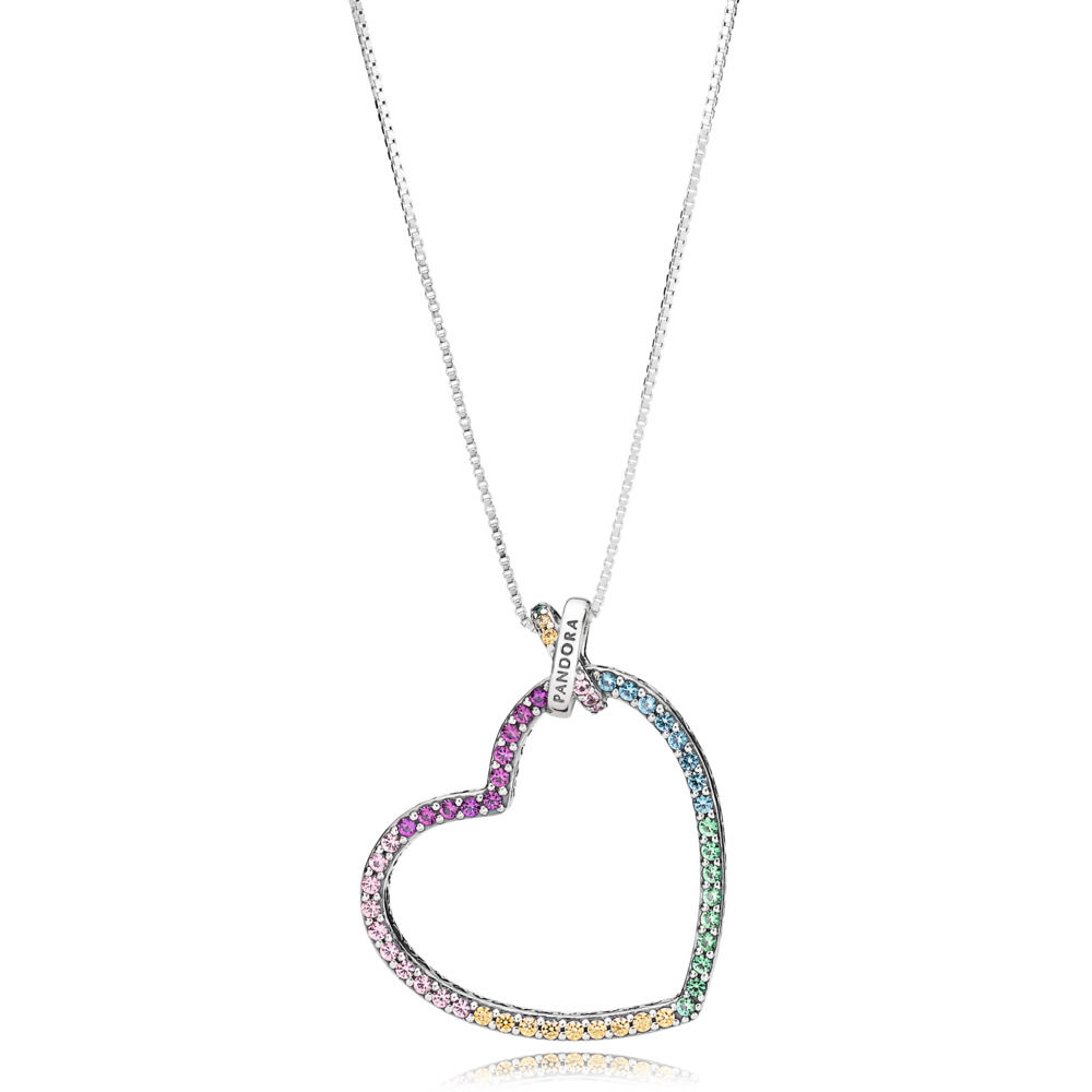 397070NRPMX Rainbow Heart Necklace