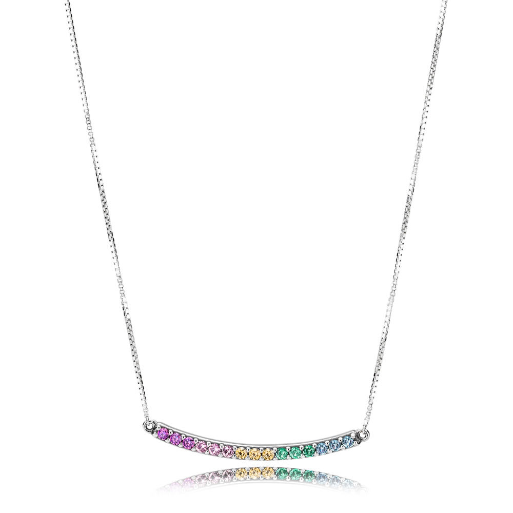 397079CFPMX Rainbow Arcs of Love Necklace