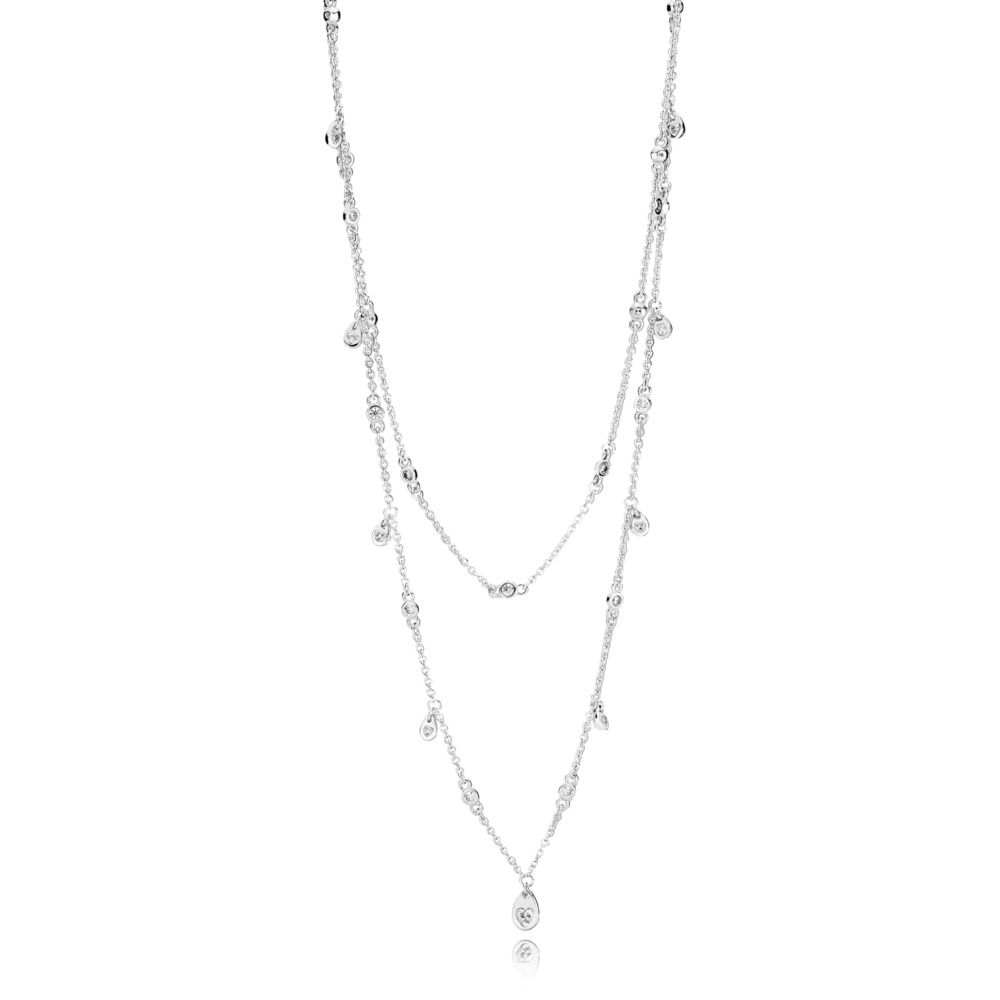 397084CZ Chandelier Droplets Necklace