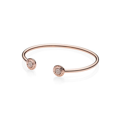 580528CZ PANDORA Rose Signature Open Bangle