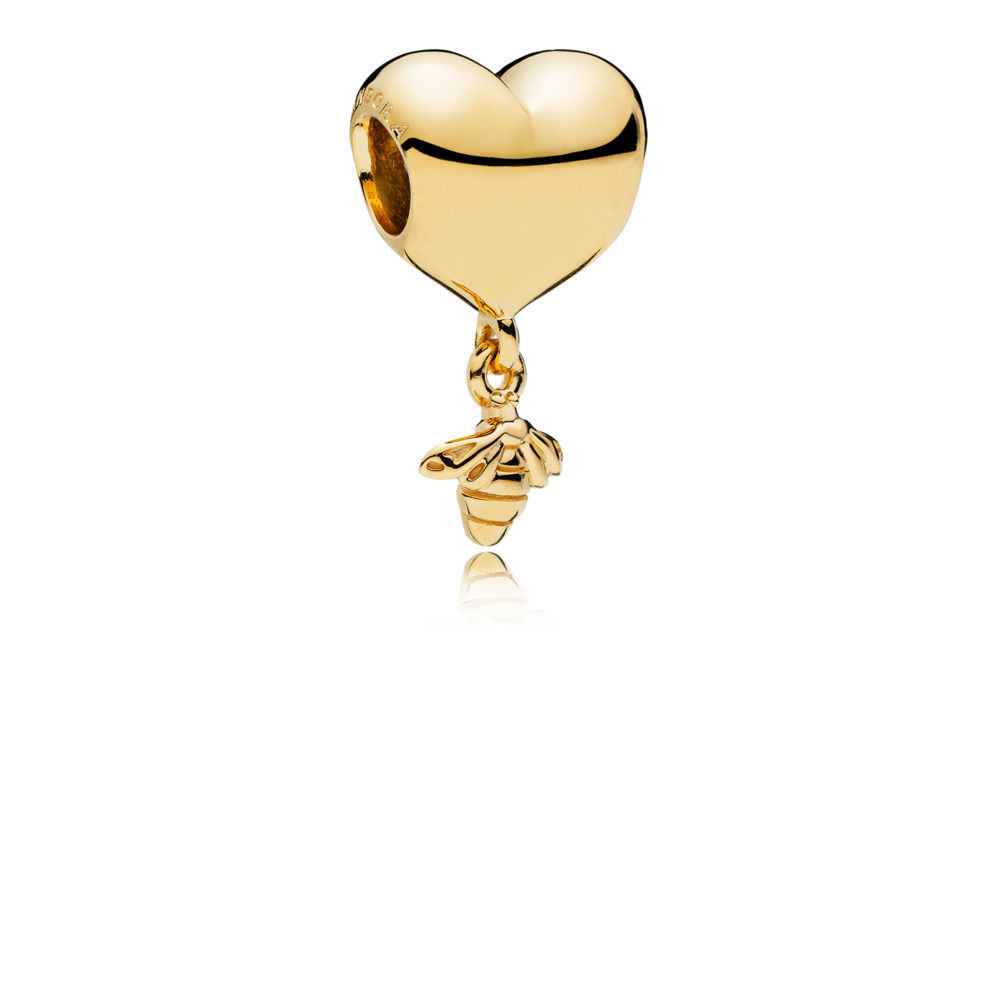 767022 PANDORA Shine Heart and Bee Charm spring 2018