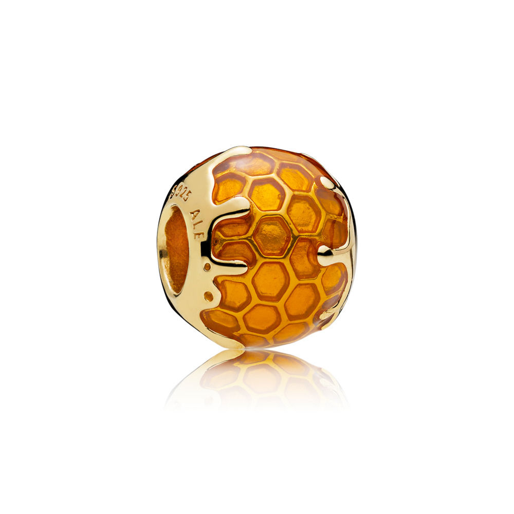 pandora shine spring 2018 new collection golden honeycomb charm 767120EN158