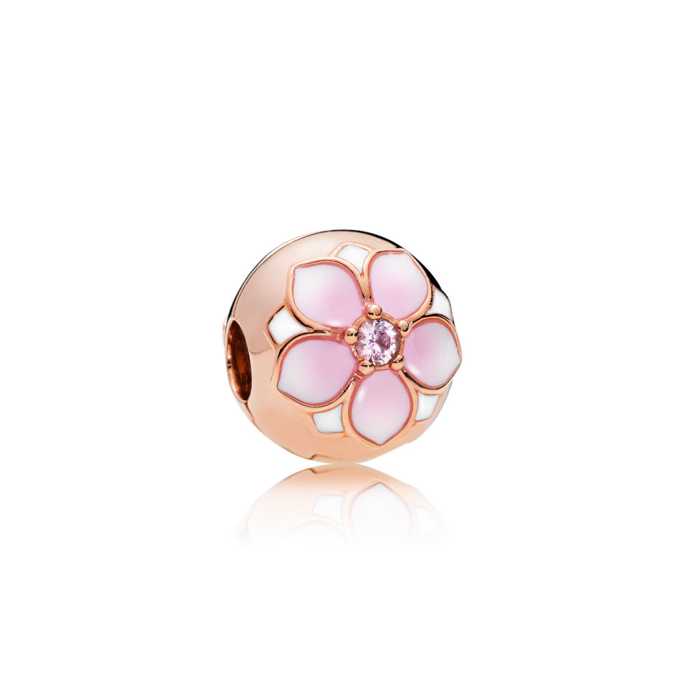 782078NBP PANDORA Rose Magnolia Bloom Clip