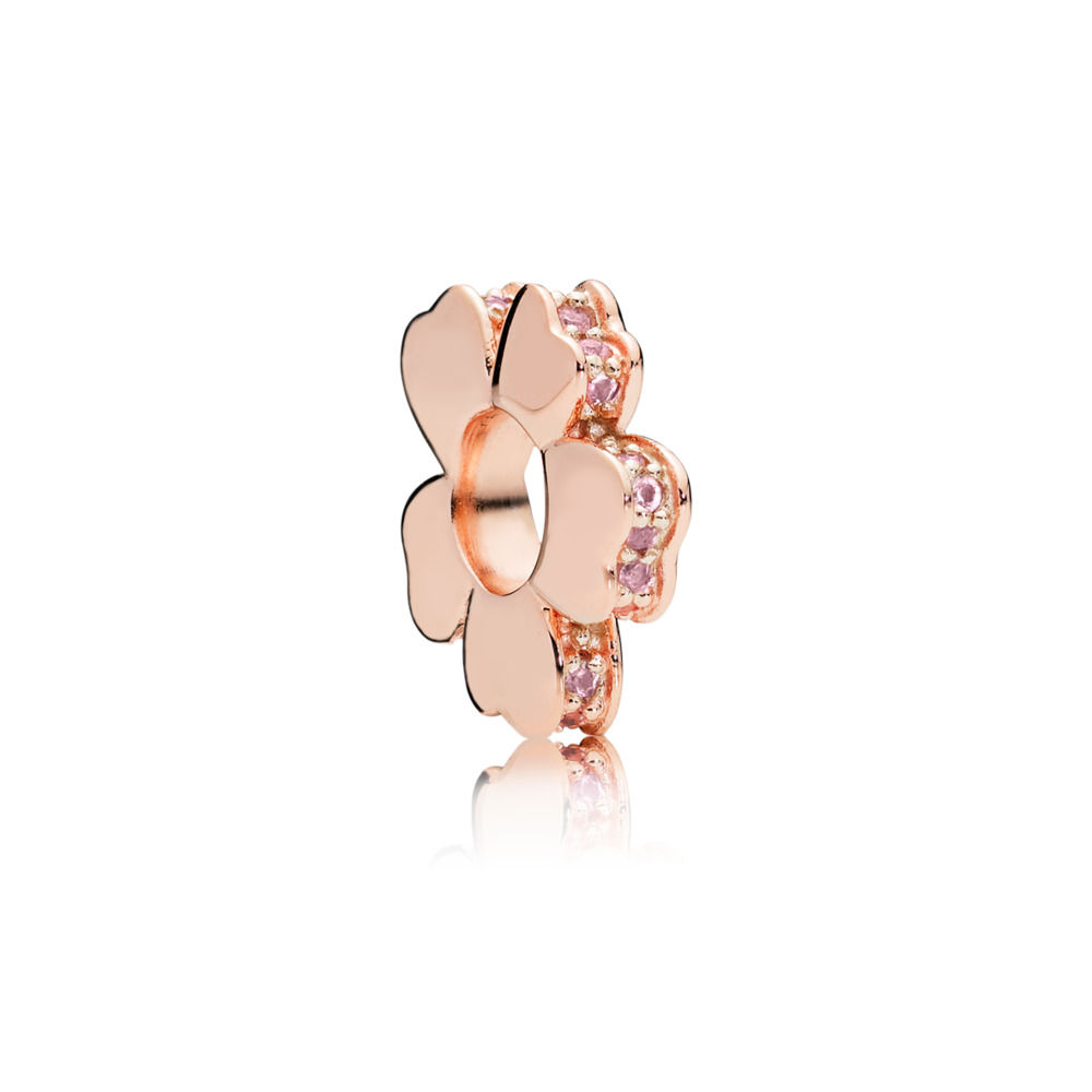 787042NPR PANDORA Rose Wildflower Meadow Spacer Charm