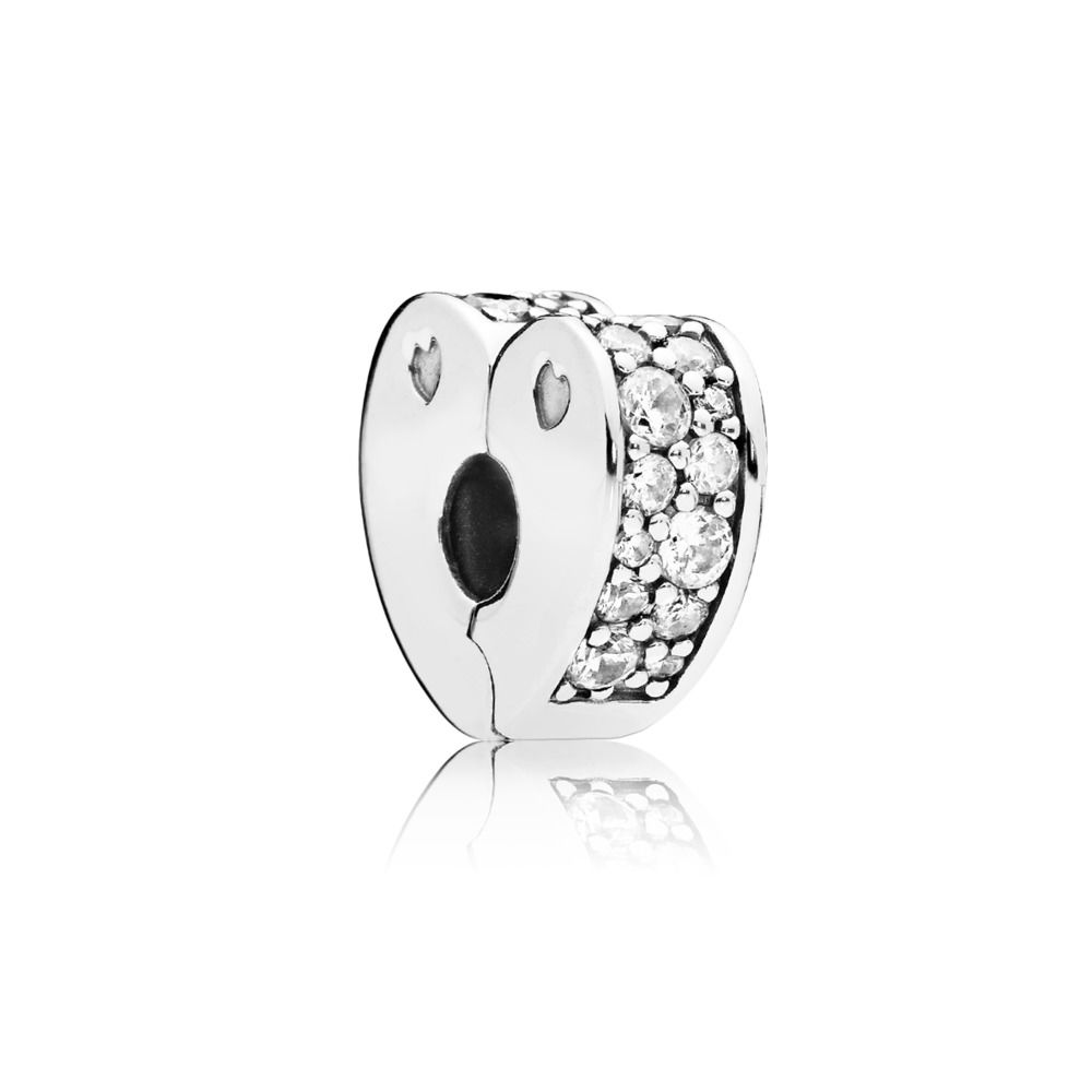 797020CZ Sparkling Arcs of Love Spacer Clip