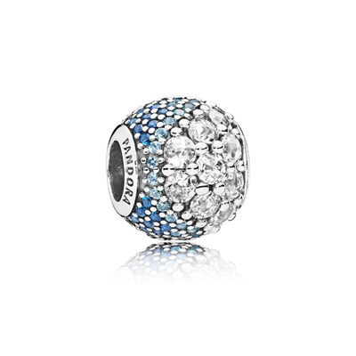 797032NABMX Blue Enchanted Pavé Charm