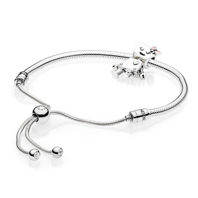 Sterling Silver Bella Bot Bracelet Set