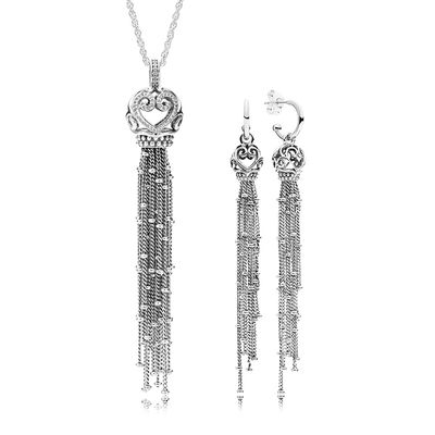 RAU0409 Enchanted Tassels Necklace and Earring Gift Set