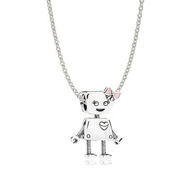 Sterling Silver Bella Bot Necklace Set