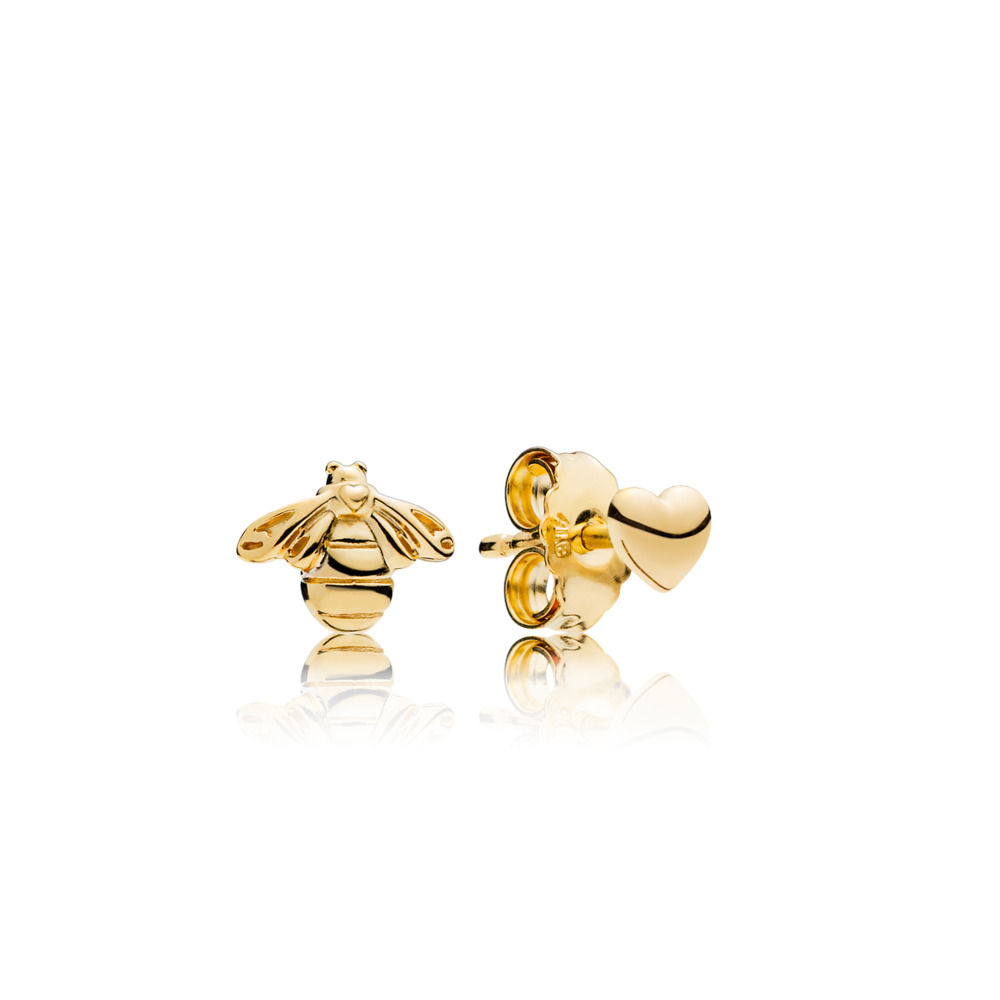 267071 PANDORA Shine Bee and Heart earrings spring 2018 new collection